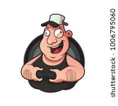illustration mascot fat man... | Shutterstock .eps vector #1006795060