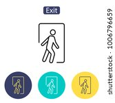 exit icon. emergency exit.... | Shutterstock .eps vector #1006796659