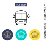 bus icon. bus stop sign.... | Shutterstock .eps vector #1006796674