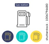 gas station icon. petrol fuel... | Shutterstock .eps vector #1006796680