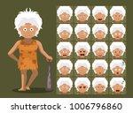 caveman family grandma cartoon... | Shutterstock .eps vector #1006796860