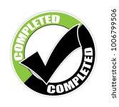 completed sticker vector...   Shutterstock .eps vector #1006799506