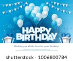 happy birthday greeting card... | Shutterstock .eps vector #1006800784