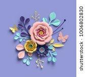 3d rendering  abstract floral... | Shutterstock . vector #1006802830