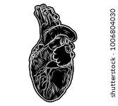 sketch of human heart. hand... | Shutterstock . vector #1006804030