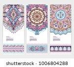 indian medallion ornament... | Shutterstock .eps vector #1006804288