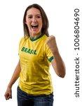 female brazilian fan... | Shutterstock . vector #1006804690
