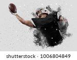 football player with a black... | Shutterstock . vector #1006804849