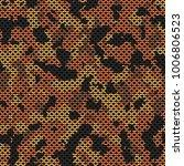 seamless orange and black... | Shutterstock .eps vector #1006806523