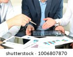 business man working and... | Shutterstock . vector #1006807870