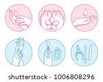 manicure and pedicure salon...   Shutterstock .eps vector #1006808296