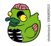 cartoon zombie rubber duck | Shutterstock .eps vector #1006809013