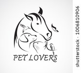 vector group of pets   horse ... | Shutterstock .eps vector #1006810906