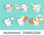 tooth with sensitive problem on ... | Shutterstock .eps vector #1006811200