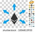 ethereum emission icon with...