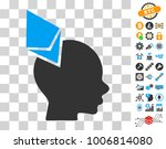 ethereum penetrated head icon... | Shutterstock .eps vector #1006814080