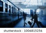 businessmen walking along a... | Shutterstock . vector #1006815256