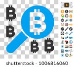 bitcoin search pictograph with...