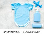 blue baby clothes for little... | Shutterstock . vector #1006819684
