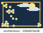 illustration of greetings card... | Shutterstock .eps vector #1006823638