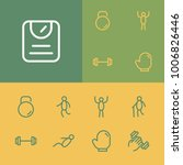 activities icons set with happy ...