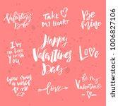 set of valentines day romantic... | Shutterstock .eps vector #1006827106