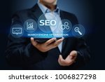 seo search engine optimization... | Shutterstock . vector #1006827298