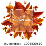 background design for autumn... | Shutterstock .eps vector #1006830610