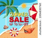 summer sale template with ocean ...   Shutterstock .eps vector #1006830760