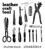 leather craft tools in graphic... | Shutterstock .eps vector #1006830814