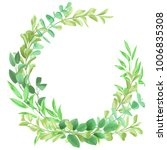 floral template with herb and... | Shutterstock .eps vector #1006835308