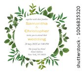 floral wedding invitation with... | Shutterstock .eps vector #1006835320