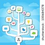 modern social media abstract... | Shutterstock .eps vector #100684378