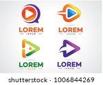 play logo set template design... | Shutterstock .eps vector #1006844269