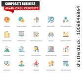 modern flat corporate business... | Shutterstock .eps vector #1006846864