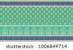 seamless textile design border | Shutterstock . vector #1006849714