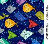 fish pattern in abstract style | Shutterstock .eps vector #100685563