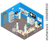 science lab interior with... | Shutterstock .eps vector #1006858510
