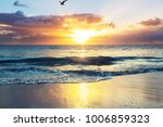scenic colorful sunset at the...   Shutterstock . vector #1006859323