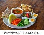 hors d'oeuvre northern thai... | Shutterstock . vector #1006864180