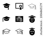 graduation icons. set of 9... | Shutterstock .eps vector #1006865179