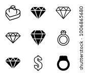 expensive icons. set of 9... | Shutterstock .eps vector #1006865680