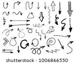 doodle hand drawn vector arrows | Shutterstock .eps vector #1006866550