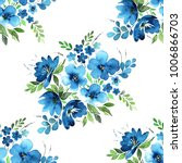 watercolor floral seamless... | Shutterstock . vector #1006866703