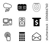 electronic icons. set of 9... | Shutterstock .eps vector #1006866760