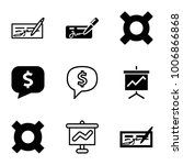economic icons. set of 9... | Shutterstock .eps vector #1006866868