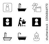 washroom icons. set of 9... | Shutterstock .eps vector #1006866970