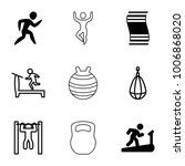 exercise icons. set of 9... | Shutterstock .eps vector #1006868020