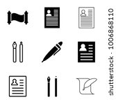 write icons. set of 9 editable...   Shutterstock .eps vector #1006868110
