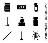 long icons. set of 9 editable... | Shutterstock .eps vector #1006868890